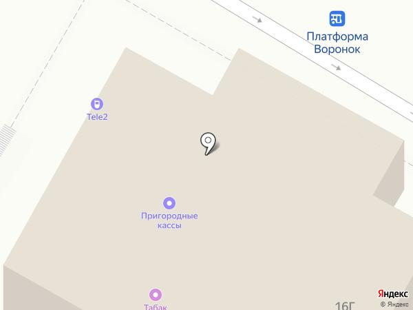 Воронок на карте Щёлково