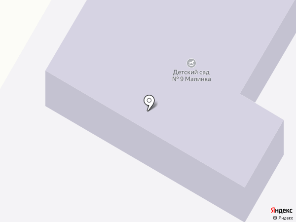 Детский сад №9, Малинка на карте Щёлково