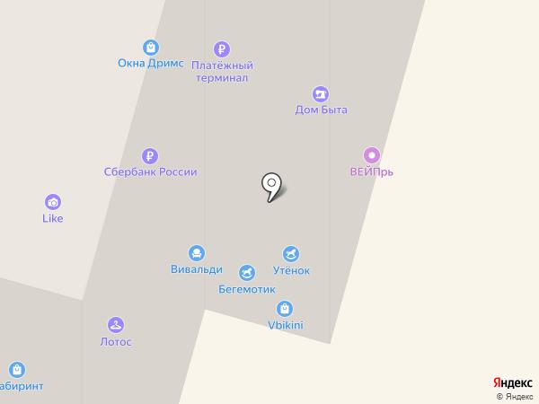 Утёнок на карте Щёлково