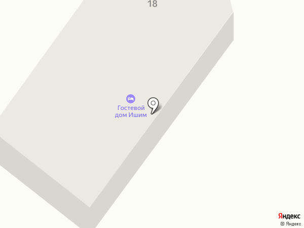 Ишим на карте Геленджика