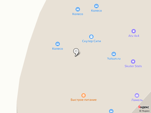 Колесо на карте Балашихи