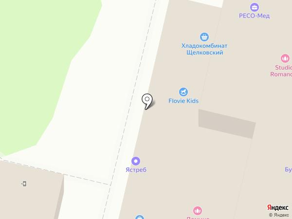 Исток на карте Щёлково