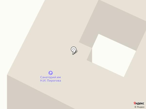 Детский санаторий им. Н.И. Пирогова на карте Геленджика