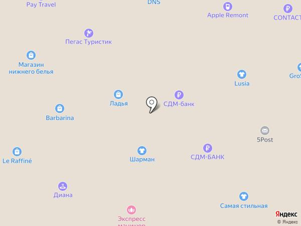 Платежный терминал, КБ СДМ-БАНК на карте Щёлково