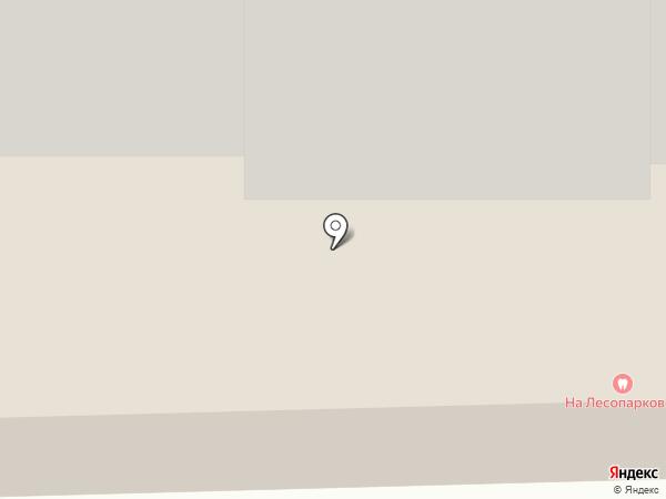 На Лесопарковой на карте Балашихи