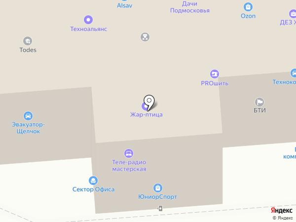 Швейное ателье на карте Щёлково