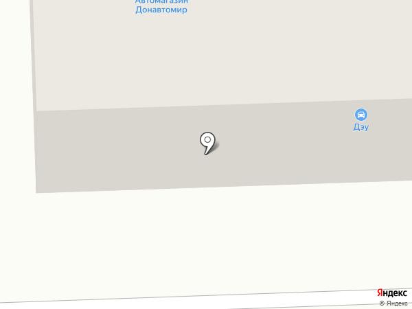 Донавтомир, салон автозапчастей на карте Макеевки