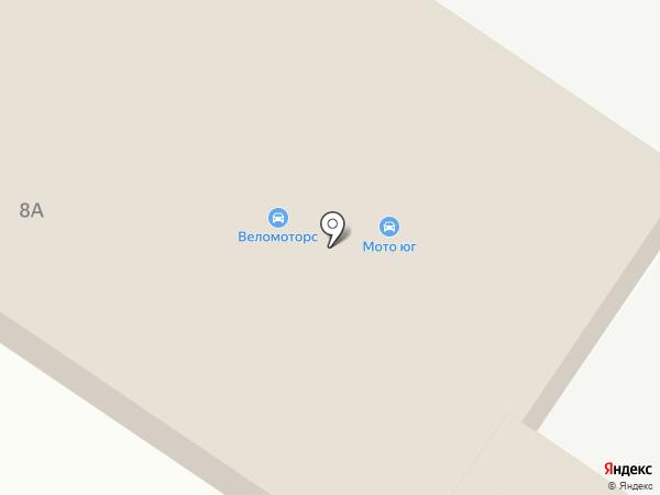 Магазин автотоваров на карте Крымска