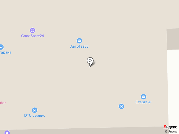 Империя Автостекла на карте Балашихи