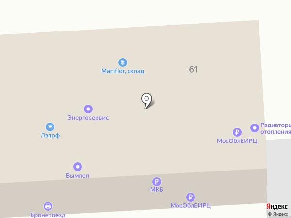 Бронепоезд на карте Железнодорожного
