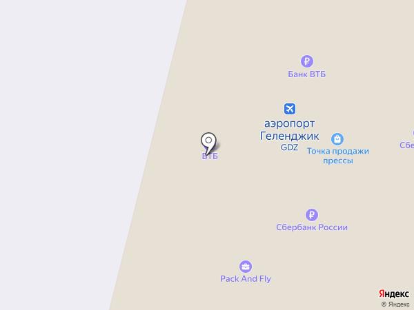 Международный аэропорт Геленджик на карте Геленджика