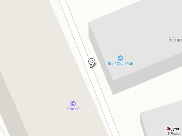 Риф на карте Геленджика