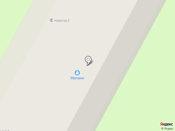 Мелани на карте Фрязино