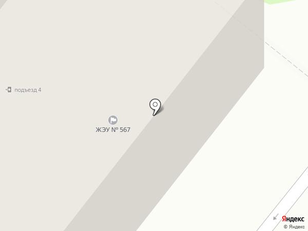 Жилищное эксплуатационное управление-567 на карте Фрязино