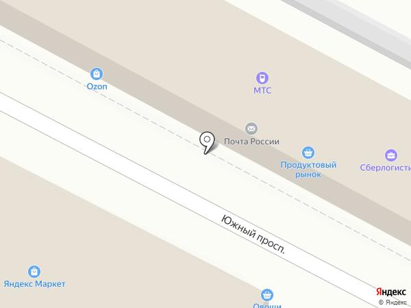Овощной магазин на карте Удельной