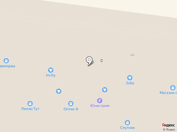 Карандаш на карте Фрязино