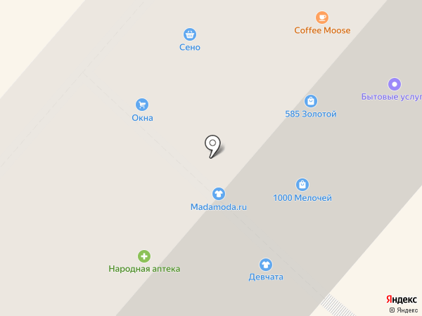Магазин детских товаров на карте Фрязино