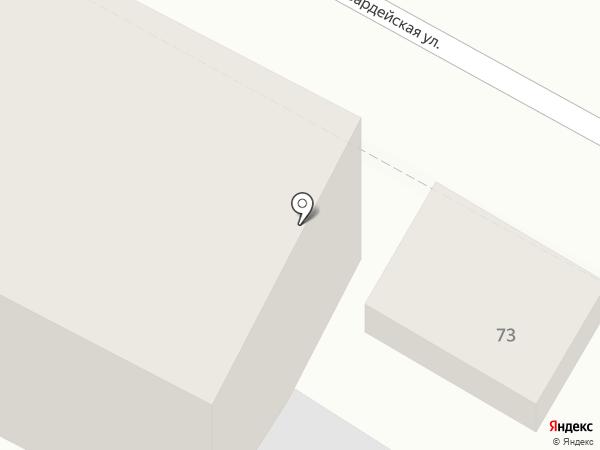 Аллея на карте Геленджика
