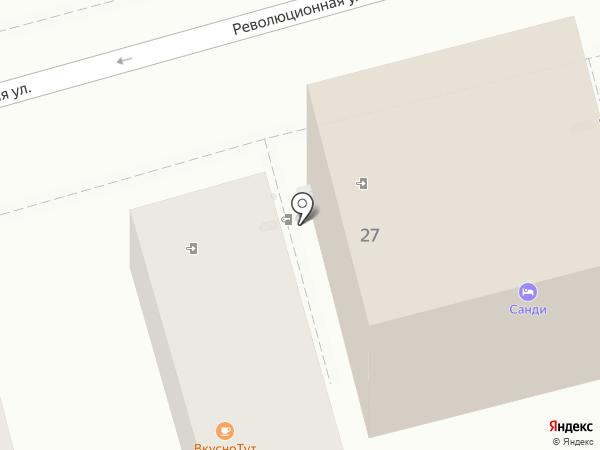 У пляжа на карте Геленджика