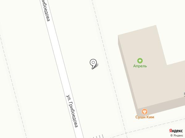 Перекрёсток на карте Геленджика