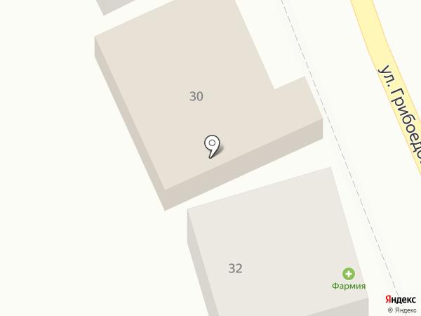 Магазин продовольственных товаров на карте Геленджика