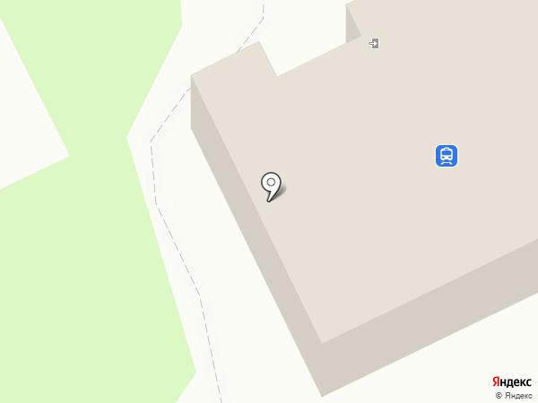 Моспинский железнодорожный вокзал на карте Моспино