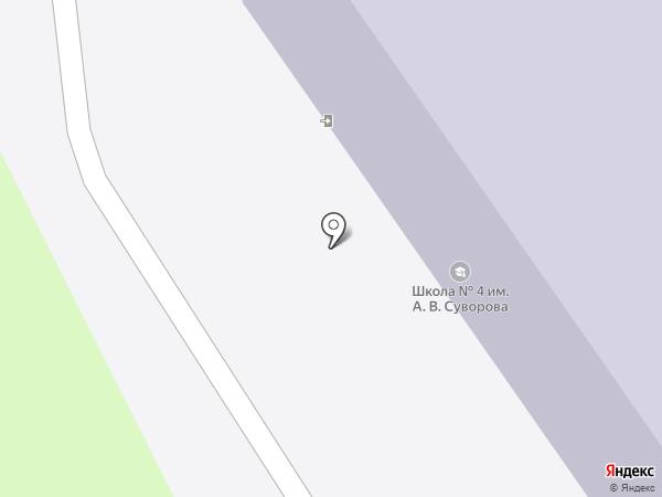Средняя общеобразовательная школа №4 им. Суворова А.В. на карте Геленджика