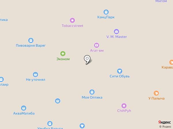Фантик на карте Жуковского