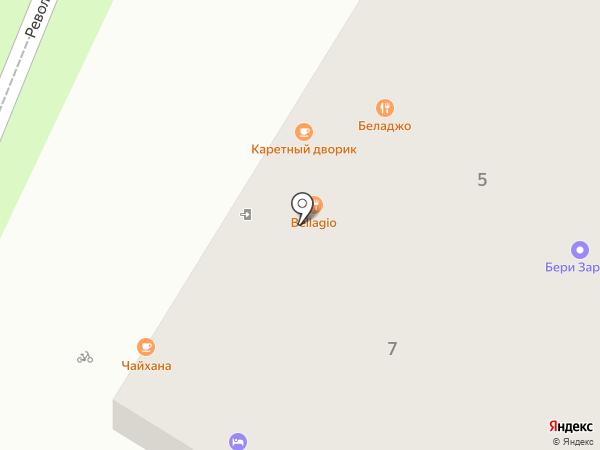 Каретный дворик на карте Геленджика