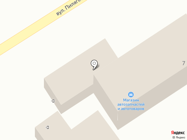 Автокомплекс на карте Моспино