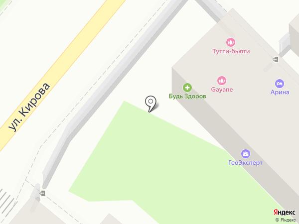 Милена на карте Геленджика