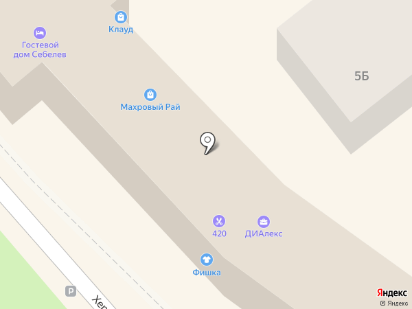 Махровый Рай на карте Геленджика