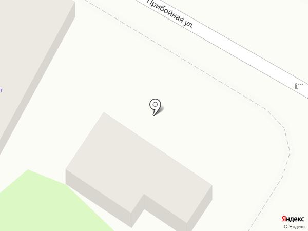 Продуктовый магазин на Прибойной на карте Геленджика