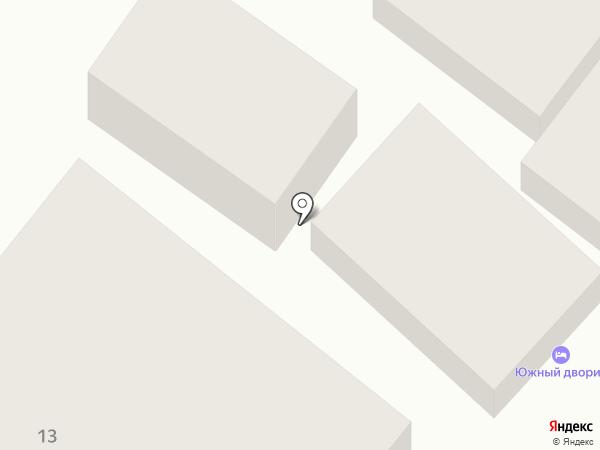 Южный дворик на карте Геленджика