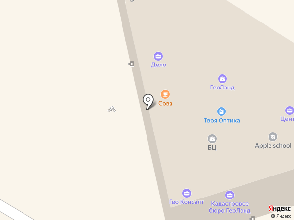 Центр на карте Геленджика