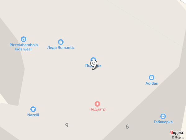 Нежный возраст на карте Геленджика