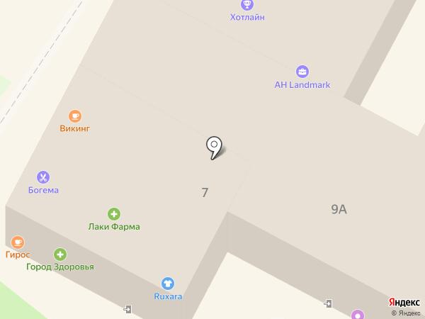 Два гуся на карте Геленджика