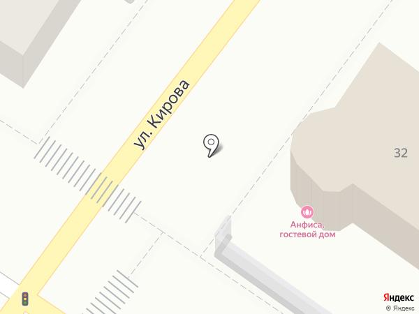 Анфиса на карте Геленджика