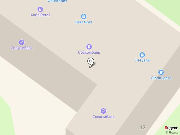 Кассандра на карте Геленджика