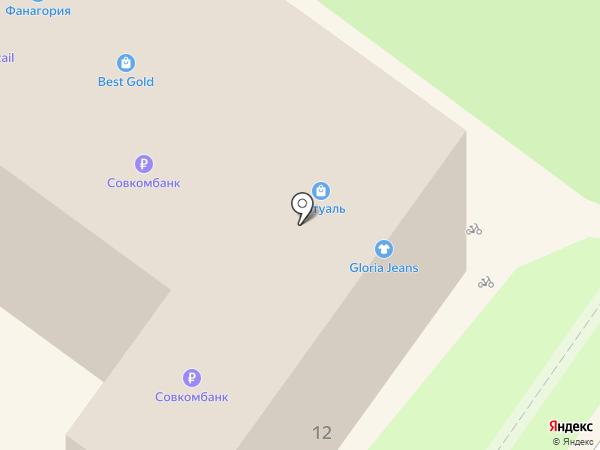 Л`Этуаль на карте Геленджика