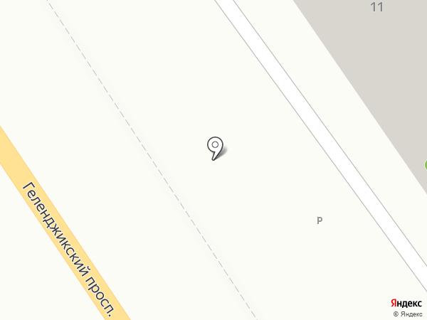 Миэль на карте Геленджика