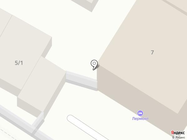 Лермонт на карте Геленджика
