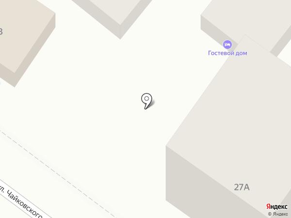 Ливадия на карте Геленджика