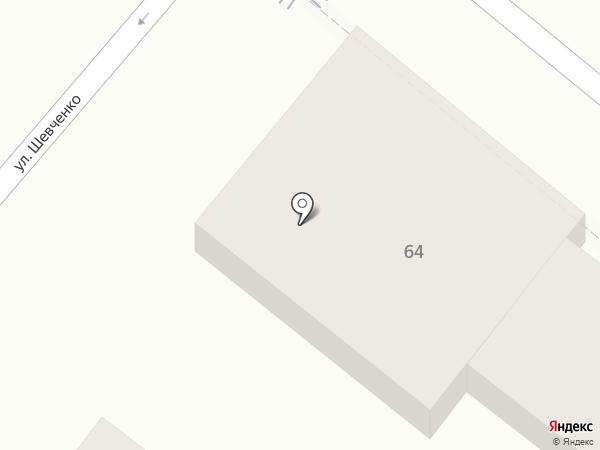 Золотая карта на карте Геленджика