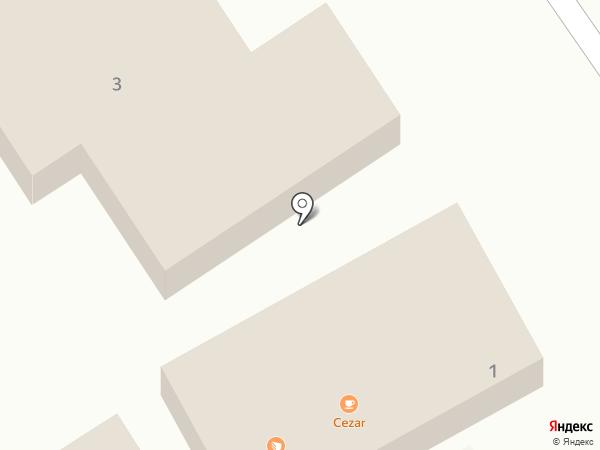 Цезарь на карте Геленджика