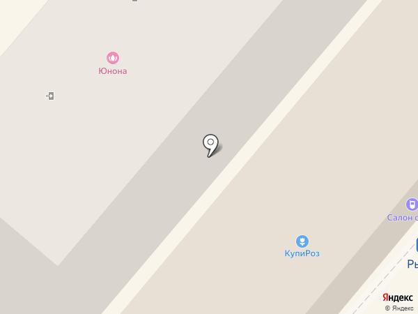 Алга на карте Геленджика