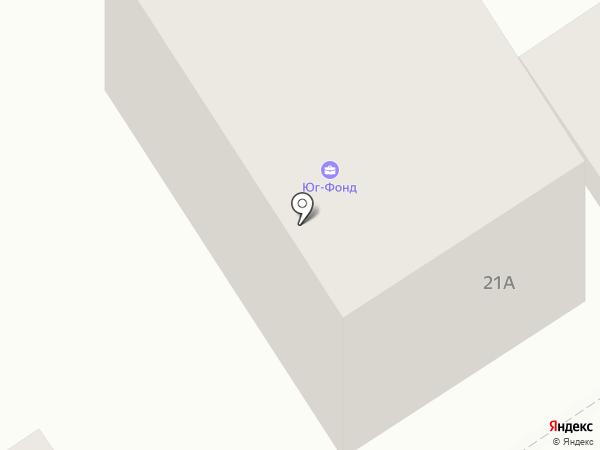 Застройка Юга на карте Геленджика