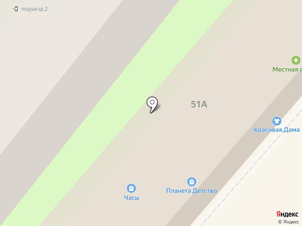 Меридиан на карте Геленджика