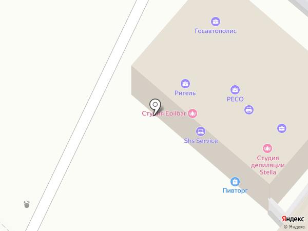 Семейный на карте Геленджика