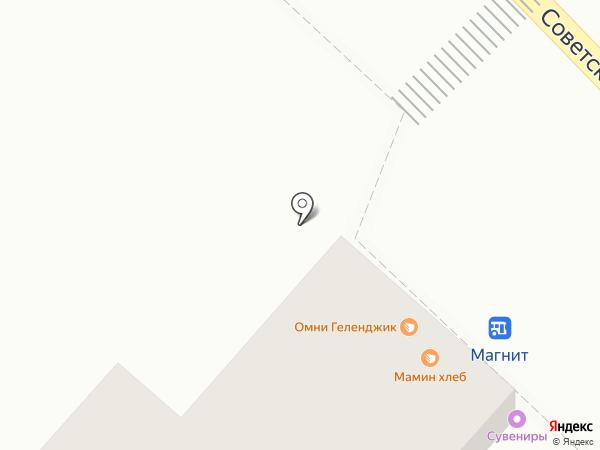 Магазин табачных изделий на карте Геленджика